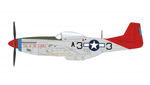 """P-51D Mustang """"Tall in the Saddle"""" 99th FS 332nd FG WWII Hobby Master HA7745 scale 1:48"""