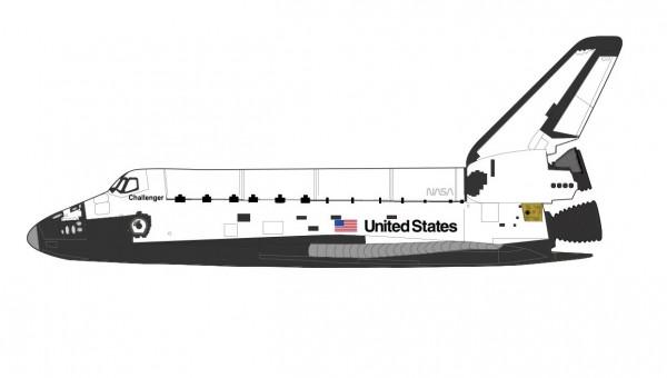 Space Shuttle Challenger OV-099 January 1996 NASA Hobby Master HL1407 scale 1:200