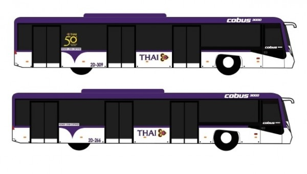 Thai Bus Set of 4 Accessories Fantasy Wings AA4019 scale 1:400
