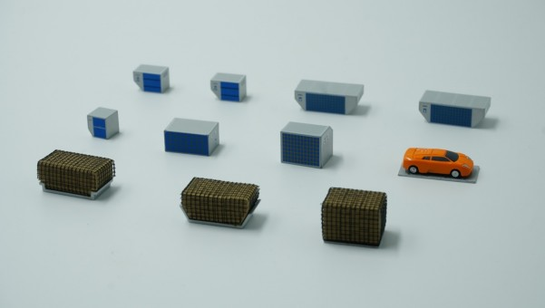 Cargo ad-on Set of 11 Accessories FWDP-CG-2001 scale 1:400