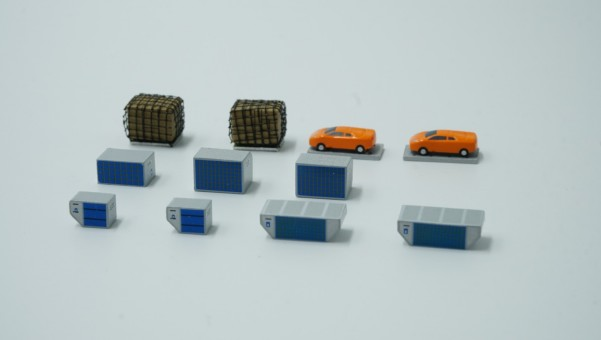 Cargo ad-on Set of 12 Accessories FWDP-CG-4003 scale 1:400
