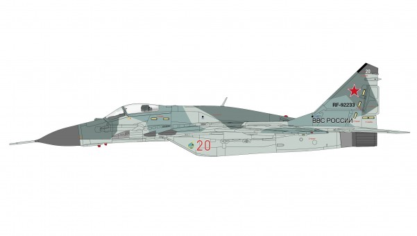 MIG-29SMT Fulcrum Russian Air Force Mikoyan Микоян МиГ-29 Hobby Master HA6550 scale 1:72