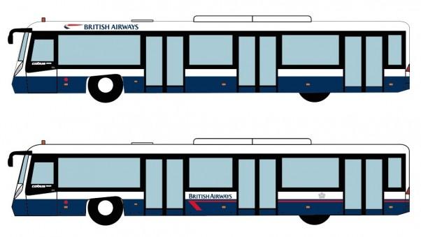 British Airways Bus Set of 4 Accessories AA4004 scale 1:400