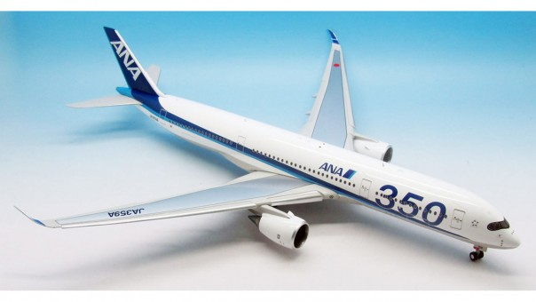 ANA Airbus A350-900 Flaps Up JA359A w/ Stand JFOX JFI-A350-003UP Scale 1:200