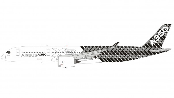 Airbus House Carbon Fiber Airbus A350-900 F-WWCF with stand Inflight IF35901119 scale 1:200