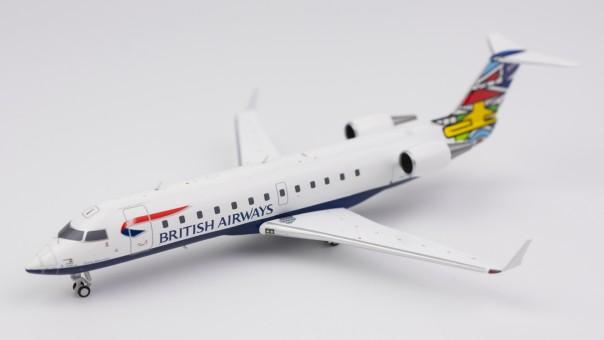 "Profile British Airways CRJ-200LR G-MSKL ""Ndebele"" (South Africa) NG Models 52029 scale 1:200"