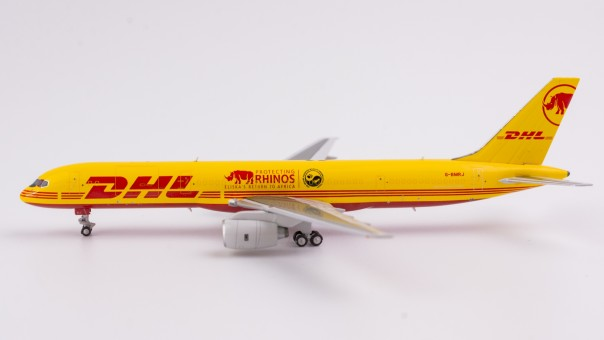 DHL 752F with winglets G-BMRJ Protecting Rhinos NG Models 53070 scale 1:400