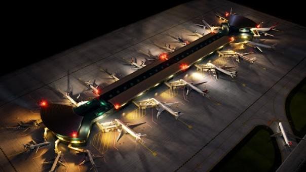 New Airport Terminal Double Rotunda GJARPTC GeminiJets accessories scale 1:400