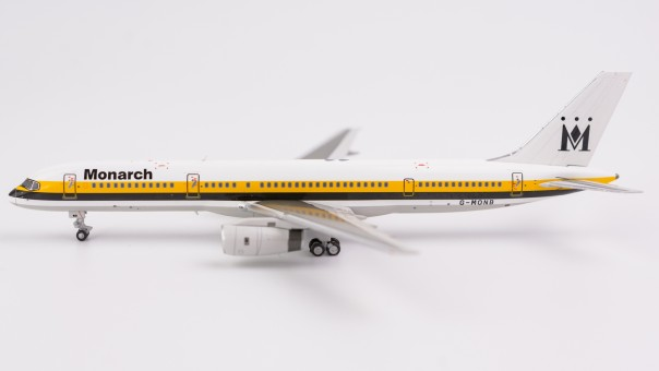 Monarch Airlines 752 winglets 1990's livery yellowblack stripe G-MONB NG Models 53082 scale 1400