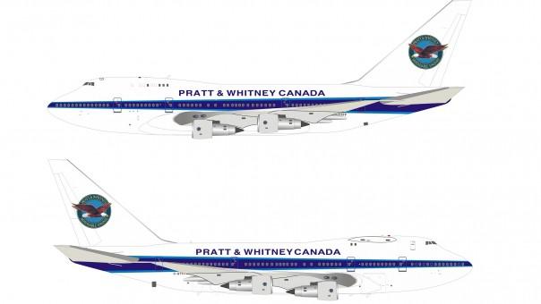 Pratt & Whitney Canada Boeing 747SP-B5 C-GTFF with stand InfFight IF74SPPW1120 scale 1:200