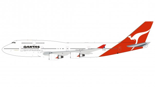 Qantas Boeing 747-400 Jumbo VH-OEG with stand Inflight IF744QFA1119 scale 1:200