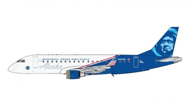Alaska-Horizon Embraer ERJ-175 N651QX Honoring those who Serve Gemini Jets GJASA1906 scale  1:400