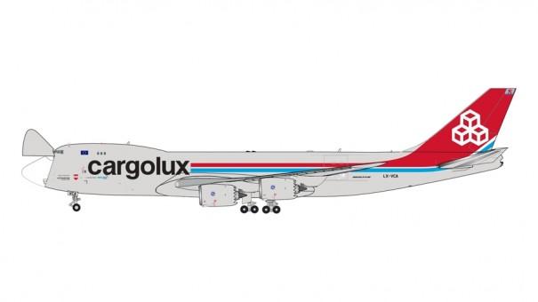 Cargolux with doors Boeing 747-8F LX-VCA Gemini Jets interactive GJCLX1896 scale 1:400