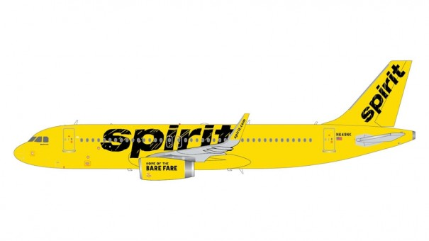 Spirit Airlines Airbus A320-200 N649NK Gemini Jets G2NKS550 scale 1:200