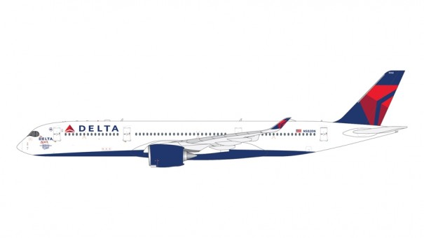 """Delta Airlines Airbus A350-900 N502DN  """"The Delta Spirit"""" Gemini Jets GJDAL2001 scale 1:400"""