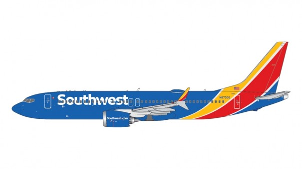 Southwest Airlines New Color Boeing 737 Max 8 N8730Q Gemini Jets GJSWA2017 scale 1:400