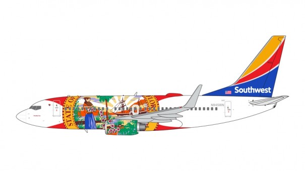 "Southwest Boeing 737-700 N945WN ""Florida One"" Gemini Jets GJSWA1419 scale 1:400"