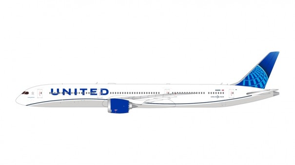 United Airlines Boeing 787-10 Dreamliner N12010 new livery Gemini 200 G2UAL882 scale 1:200