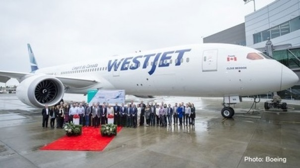 Westjet Boeing 787-9 Dreamliner New Livery C-GUDH Herpa Wings 533256 scale 1:500