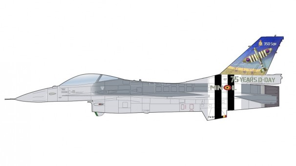 """Belgian Air Force Lockheed F-16AM """"75 Years D-Day"""" 2019 Air Force HA3879 scale 1:72"""