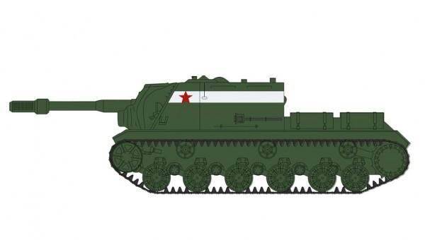 ISU-152 Tank Destroyer Unidentified unit Berlin April 1945 WWII Hobby Master HG7055 scale 1:72