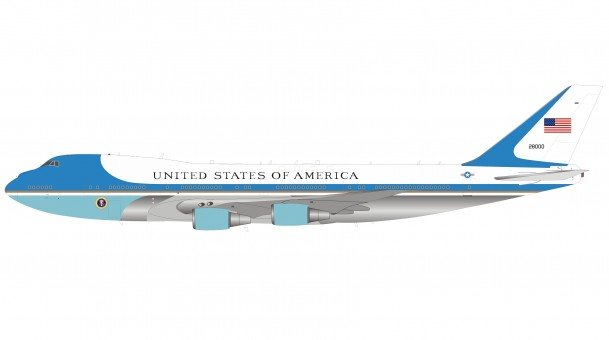 USAF Air Force One 747-200 VC-25A 28000 Polished InFlight IFAFIVC-25AP Scale 1:200