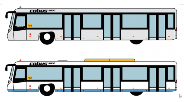 Cobus 3000 HKIA Bus Set of 4 Accessories AA4002 scale 1:400