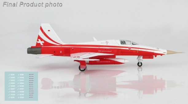 "F-5E Tiger II ""Patrouille Suisse"" Season 2018 Hobby Master HA3332 Scale 1:72"