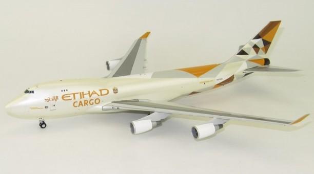 Etihad Cargo 747-400F New Livery Reg# N476MC JC With Stand JC2ETD402 Scale 1:200