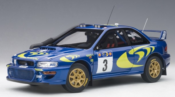 Blue Subaru Impreza WRC 1997 #3 89792 Rally of Safari AUTOart scale 1:18