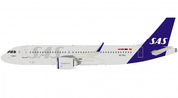 SAS Scandinavian New Livery Airbus A320-200 SE-ROJ with stand InFlight IF320NSK0120 scale 1:200