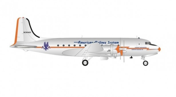 American Airlines Douglas DC-4 Lightning Bolt livery NC90423 Herpa Wings 570862 scale 1:200