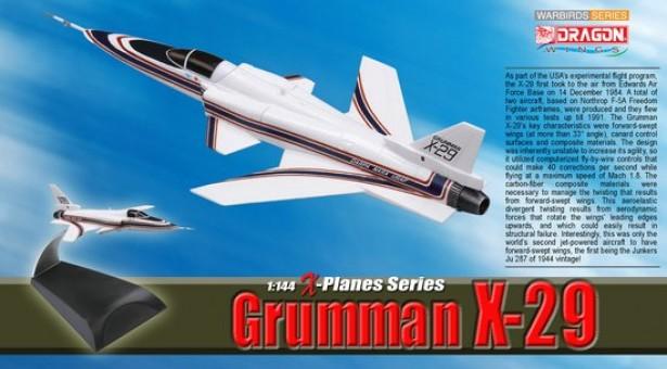 Grumman X-29 Prototype No.2 - NASA 049 U.S. Air Force   DRW-51039 Scale 1:144