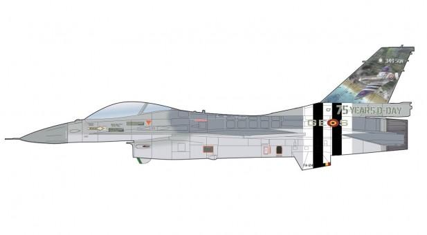 "Belgian Air Force Lockheed F-16AM ""75 Years D-Day"" 2019 FA-124 349 Sqn HA3878 scale 1:72"