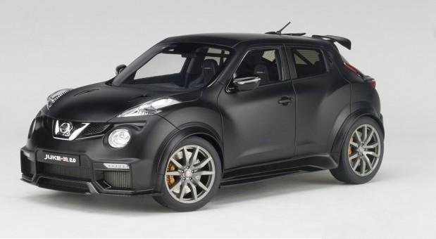 Black Nissan Juke R 2.0 Matt AUTOart 77458 die cast Scale 1:18