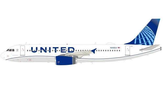 United Airlines New Livery Airbus A320-200 N449UA with stand InFlight IF320UA0120 scale 1:200