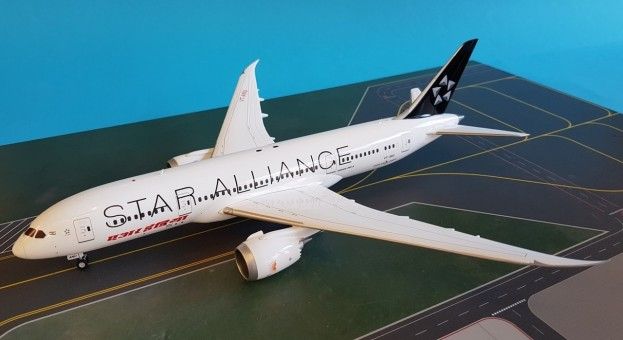 Air India 787-8 Reg# VT-ANU w/stand JC JC2AIC953 Scale 1:200