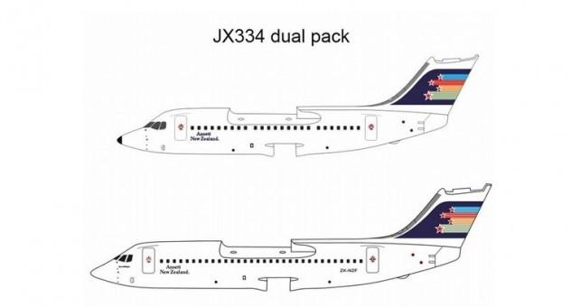 1/400 ANSETT NEW ZEALAND BAE 146-200 ~ZK-NZA AND BAE 146-300