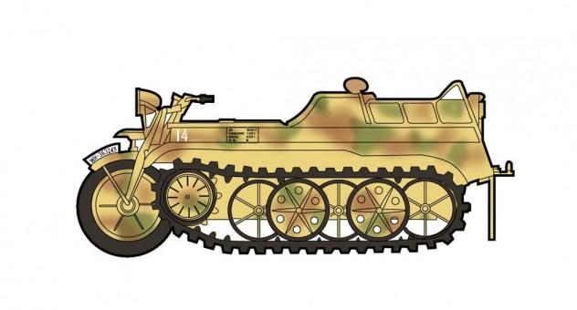 Sd.Kfz.2 Kleines Kettenkraftrad 1st Gebirgs Division Soviet Union 1942 Hobby Master HG1703 scale 1:48