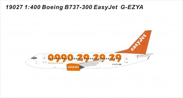 EasyJet 733 G-EZYA die-cast models 19027 scale 1:400