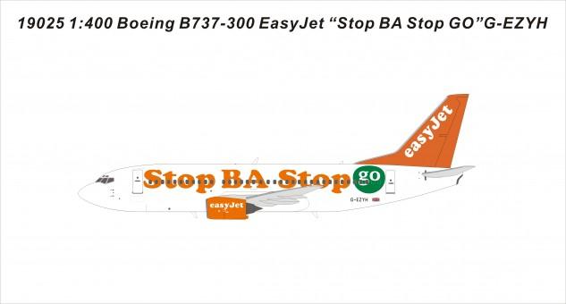 EasyJet 733 G-EZYH Stop BA Stop Go die-cast models 19025 scale 1400