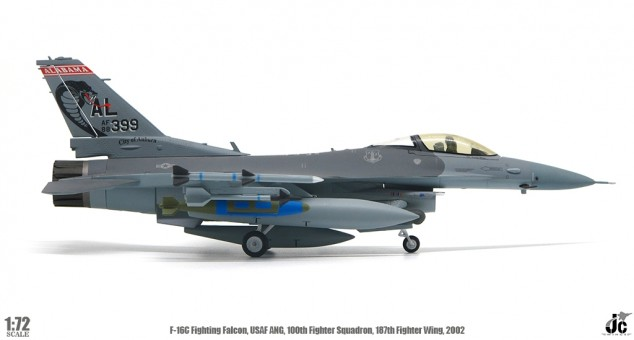 USAF ANG F-16C 160th Fighter Squadron 187th Fighter Wing 2002 JCW-72-F16-008 scale 1:72