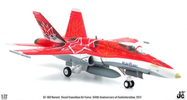 Royal Canadian Air Force CF-188 (F-18) Hornet  150th Anniversary of Confederation JC wings JCW-72-F18-005 scale 1:72
