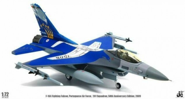 "Portuguese Air Force F-16A ""201 Sqd, 50th Anniversary"" JCW-72-F16-007 scale 1:72"