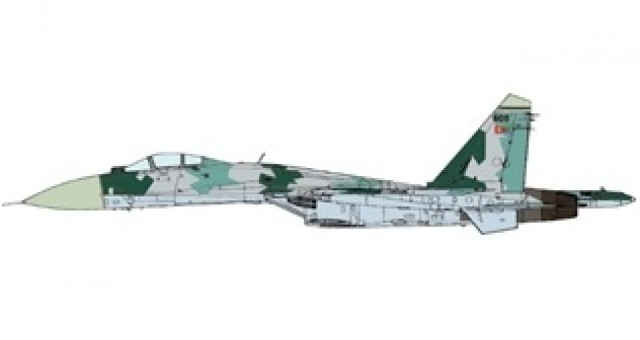 Eritrean Air Force Su-27 Flanker 2010 JC wings JCW-72-SU27-007 scale 1:72