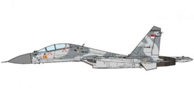 Indonesian Air Force Sukhoi Su-30 MK Flanker-C 11th Squadron 2016 JC Wings JCW-72-SU-007 scale 1:72