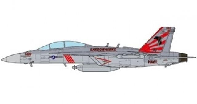US EA-18G Growler (Electronic warfare F-18) VAQ-141 Shadowhawks USS Ronald Reagan 2017 JC wings JCW-72-F18-006 scale 1:72