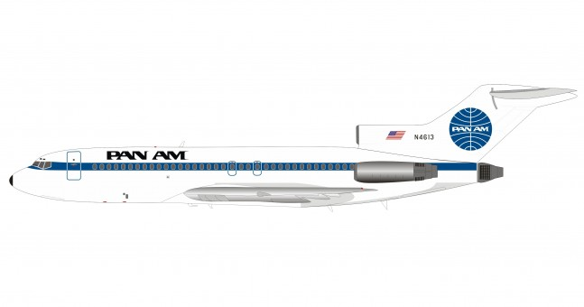 Pan Am Boeing 727-100 N4613 with stand InFlight IF721PA1219 scale 1:200