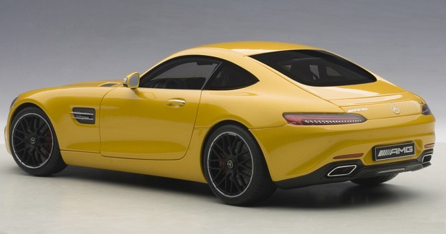 Yellow Mercedes AMG GT S Die Cast AUTOart 76314 Metallic Model Scale 1:18
