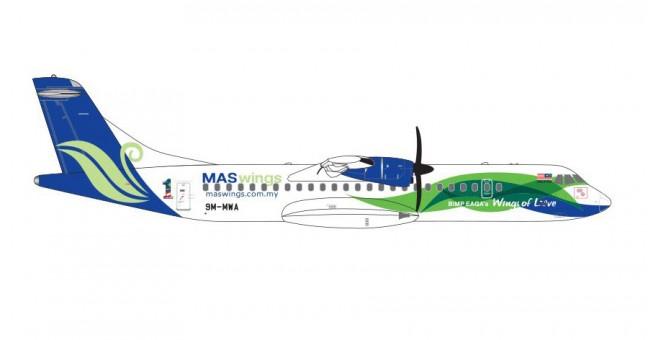 MASwings ATR-72 Reg# 9M-MWA GJMWG1600 GeminiJets 1:400